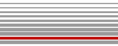 Striping grijs/rood