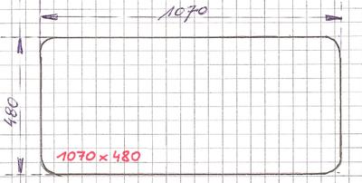 Raam 1070/480