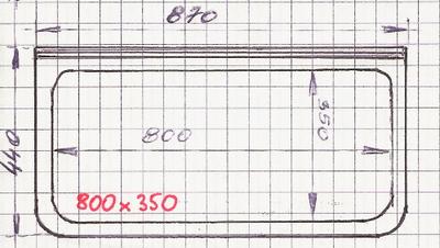 Raam 800/350